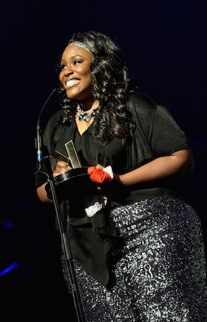 Mandisa wins at the K-LOVE Fan Awards. Getty Images/Rick Diamon