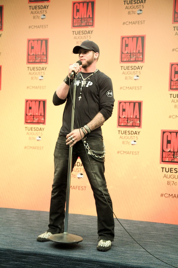 Brantley Gilbert backstage at LP Field. Photo: Moments by Moser