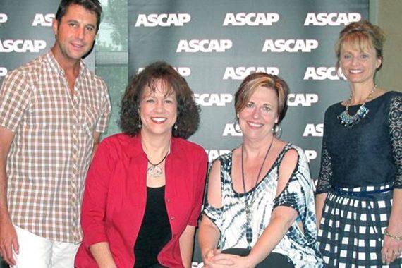 Pictured (L-R): ASCAP's Michael Martin, Helene Cronin, Debbie Zavitson, ASCAP's Kele Currier