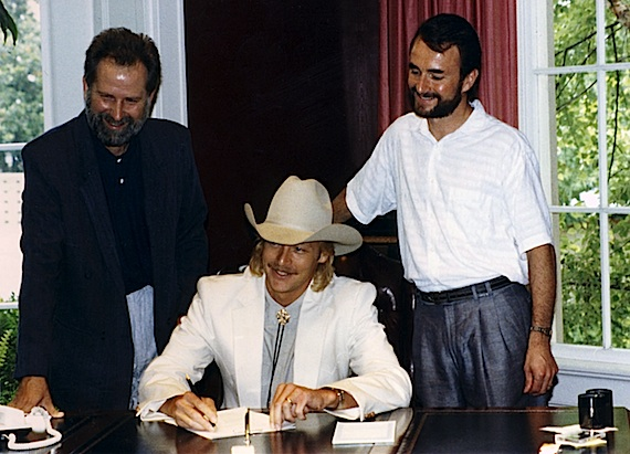 Pictured (L-R): Tim DuBois, Alan Jackson and Barry Coburn