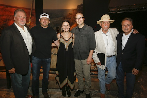 Pictured (L-R): Larry Gatlin, Natalie Hemby, Rhett Akins and Luke Laird. Photo: Jack Plunkett
