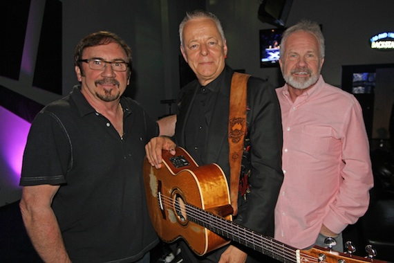 Pictured (L-R): Streamsound Records Co-Founder Byron Gallimore, Emmanuel and Streamsound Records Co-Founder Jim Wilkes. Photo: Streamsound Records.