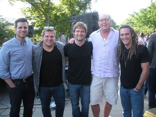 Pictured (L-R): Rod Riley (President & CEO, Word Entertainment), Luke Klutinoty, Adam Klutinoty, John Esposito (President & CEO, WMN), Levi Klutinoty