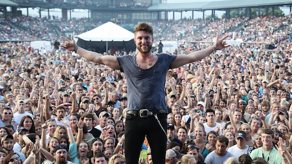 Chris Lane performs in Charleston, S.C., opening for Florida Georgia Line's This is How We Roll Summer Series 2014 tour. Photo: Lloyd Norman / Big Loud Mountain