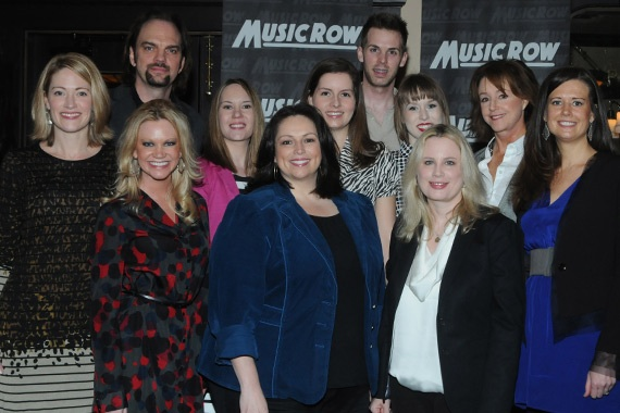 Cindy Mabe (front row) is honored as one of MusicRow's Rising Women on the Row in 2013.