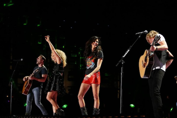 Little Big Town performs at LP Field. The band will host the CMA Music Festival TV special on ABC.