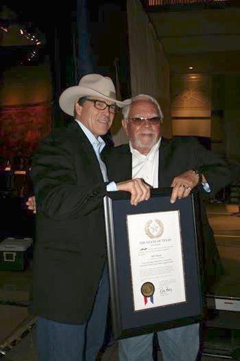 Gov. Rick Perry honors Bill Mack