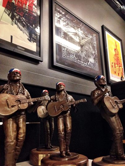 Willie Nelson statues were presented.