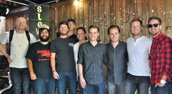 Pictured (l-r):Gavin Slate, Josh London and bandmates, ASCAP's LeAnn Phelan, Richard Jackson, Jonathan Jackson, Jacob Davis and Doug Brown. Photo by ASCAP's Alison Toczylowski.