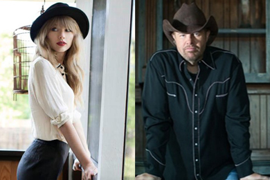 Taylor Swift and Toby Keith