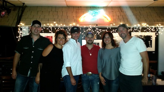 Pictured (L-R): Keith Walker, Hannah Dasher, ASCAP's Michael Martin, Aaron Goodvin, ASCAP's LeAnn Phelan, and Christopher Roberts.​ ​