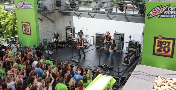 Kip Moore performs for the CMT Summer Concert series.