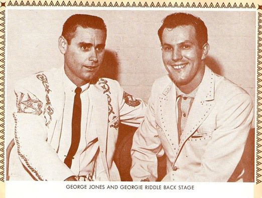 George Jones (L) and George Riddle