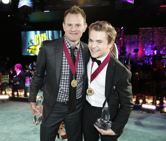 Verges and Hunter Hayes at the BMI Country Awards.