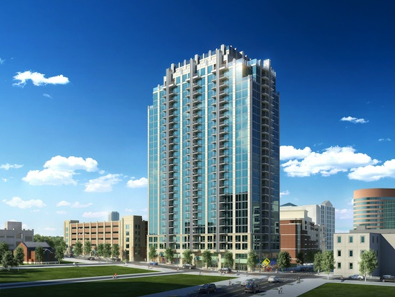 A rending of the proposed SkyHouse apartment for Nashville.