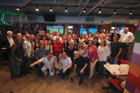 Present and former employees of Warner Brothers Nashville came together to hang out at The Tin Roof. Photo: Randi Radcliff