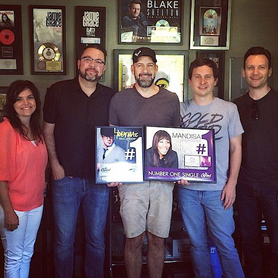 Pictured:  Capitol CMG Publishing's Stacey Willbur, John Thompson, Chris Stevens, John Andrade & Matt Ewald