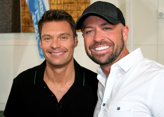 Ryan Seacrest (L) and Cody Alan (R).
