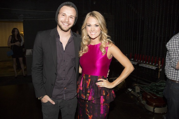 Pictured (L-R): Joel Crouse and Carrie Underwood. Photo: Chris Hollo.