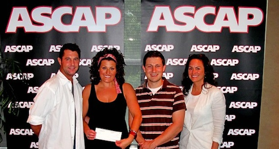 Pictured (L-R): ASCAP's Michael Martin, Dasher, BMG Chrysalis's Daniel Lee, and ASCAP's LeAnn Phelan. Photo by ASCAP's Anna White.