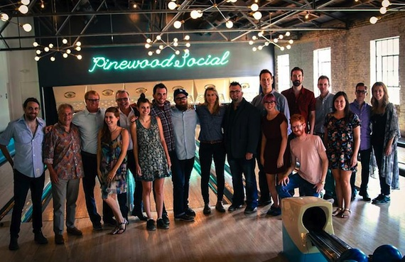 A variety of music supervisors, songwriters, composers, and ole and BMI staff attended, including (pictured from left to right) Andrew Petroff (ole songwriter/producer), Stacy Widelitz (Composer), John Ozier (ole, GM Nashville Creative), Jesse Lee (ole songwriter), Gilles Godard (ole, VP Business Development), Emily Mueller (ole, Creative Manager), Ben Strain (ole, Creative Director), Toddrick Spalding (Trailer Park), Kasey Truman (Chop Shop Music), Randall Foster (ole, Sr. Director, Sync & Licensing), Jim Scherer (Whizbang, Inc), Jazz Godard (Hummingbird Productions), Chris Clark (Leo Burnett), Aaron Howard (Hummingbird Productions), Guinn Rogers (Hummingbird Productions), Jeremy Ash (BMI), and Penny Everhard (BMI).