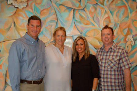 Pictured (L-R): Mark Mason (BMI), Leslie Roberts (BMI), Tammi Kidd Hutton, AJ Burton (Nettwerk)