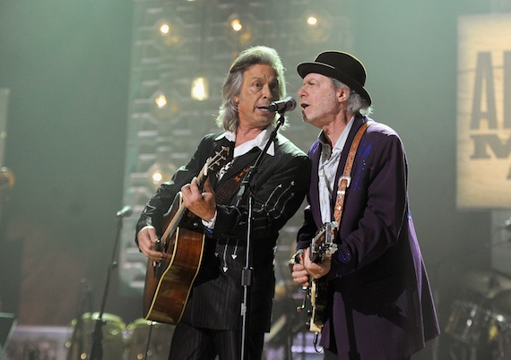 Jim Lauderdale and Buddy Miller perform at the 2014 Americana Music Festival. Photo: Getty Images