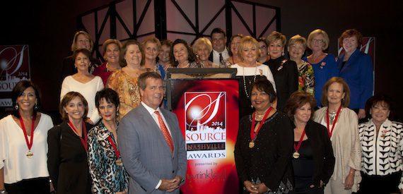 Mayor Karl Dean with past SOURCE award winners