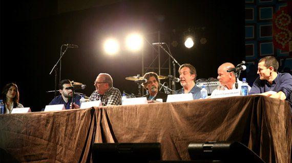 Pictured (L-R): Host Virginia Davis, Jeffrey Hasson, Adam Kornfeld, Steve Lassiter, Paul Lohr, Kevin Neal, Aaron Tannenbaum. Photo: Terry Wyatt/Getty Images for IEBA
