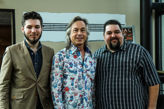 Pictured (L-R): Producer/director Jeremy Dylan, Lauderdale and SESAC's Tim Fink. Photo: Bev Moser