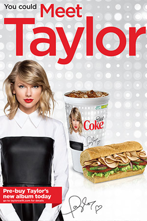 Taylor-Swift-Subway-1989-New-album-pop-release-partnership-subway