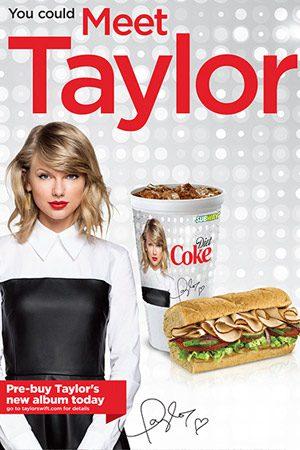 Taylor-Swift-Subway-1989-New-album-pop-release-partnership-subway