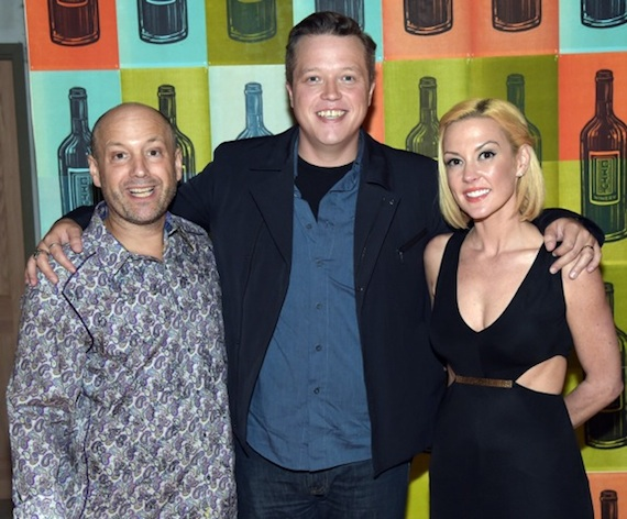 Caption: Founder/CEO City Winery Michael Dorf, singer/songwriter Jason Isbell and wife/ fellow recording artist, Amanda Shires. Photo: Getty Images
