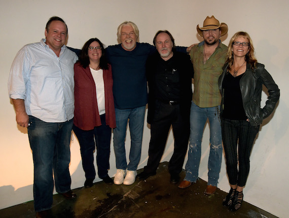 Pictured (L-R): Tom Forrest, executive producer; Margaret Comeaux, CMT executive producer; Bob Seger; Bill Flanagan, CMT executive producer; Jason Aldean; Kathryn Russ, executive producer. Photo: Rick Diamond/Getty Images
