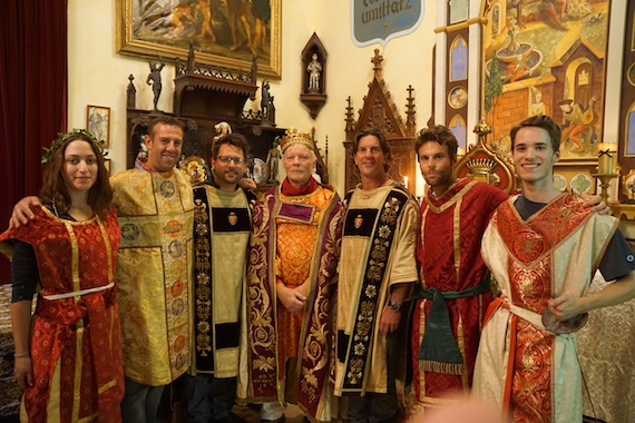 Pictured (L-R): Gali Firstenberg and Jason Silberman, Sir Christopher DeStefano, Lord Miles Copeland, Sir Brett James, David Ryan Jordan and Axton Copeland.
