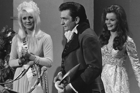 """The 3rd Annual CMA Awards"" was the first show to broadcast live, asJohnny Cash won five Awards in a single night. June Carter.  Plus, the Country Music Hall of Fame inducted Gene Autry and Bill Monroe."