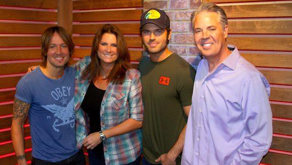 Pictured (L-R): Keith Urban, Terri Clark, Chuck Wicks, and Blair Garner