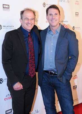 Pictured (L-R): Director Michael Hoffman, author Nicholas Sparks.