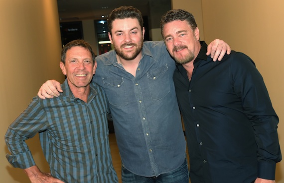 Pictured (L-R): Greg Oswald (co-head, William Morris Endeavor Nashville), Chris Young, Rob Beckham (co-head, William Morris Endeavor Nashville). Photo: Rick Diamond/Getty Images