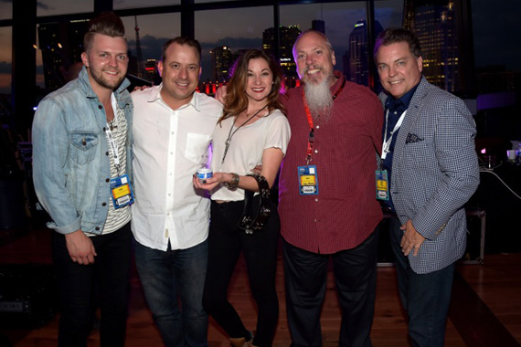 (L-R): Bryan Dawley (Native Run), Darin Murphy (CAA), Rachel Beauregard (Native Run), John Marks (Sirius XM), Jeff Gregg (CAA) Photo: Rick Diamond/Getty Images