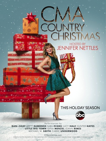 "Artwork for ""CMA Country Christmas"" airing in the holiday season of 2014."