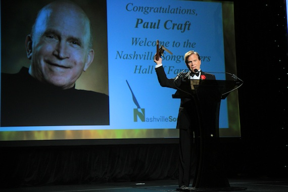 Paul Craft is inducted into the Nashville Songwriters Hall of Fame. Photo: Bev Moser/Moments By Moser