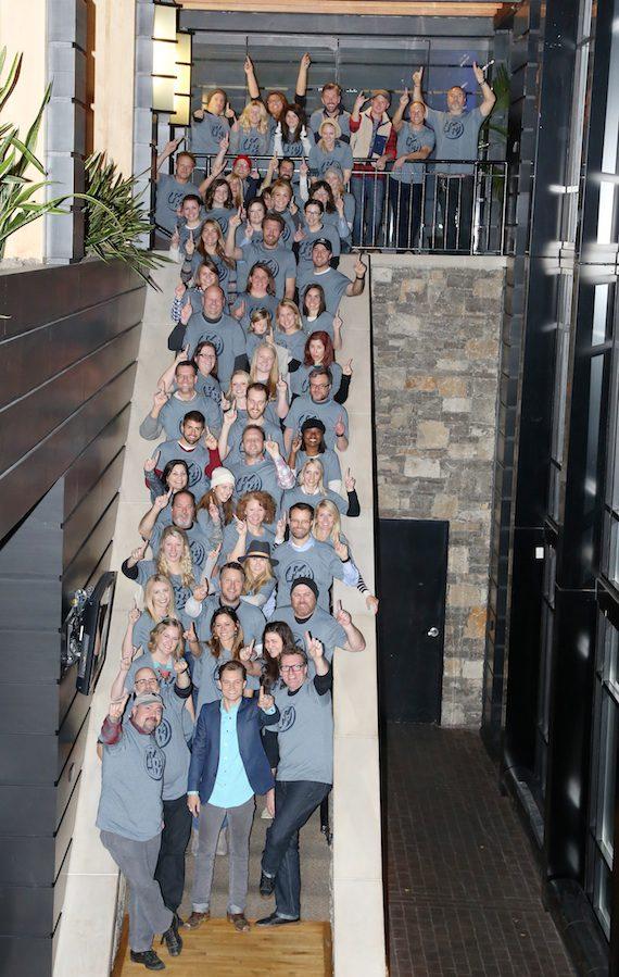 Pictured: Frankie Ballard and WMN staff
