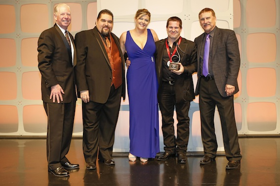 Pictured (L-R): SESAC's Pat Collins, Tim Fink Shannan Hatch, Songwriter of the Year Rob Hatch and SESAC's John Mullins.