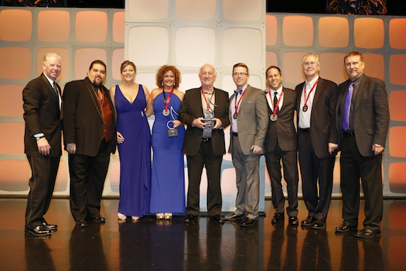 Pictured (L-R): SESAC's Pat Collins, Tim Fink and Shannan Hatch, Magic Mustang Music's Juli Newton-Griffith, Benny Brown, Keithan Melton, Jon Loba, Rick Shedd and SESAC's John Mullins.