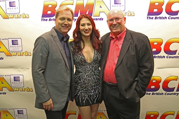Pictured (L-R): Steve Wariner, Cold River Records' Katie Armiger and BCMA President, Lee Williams.