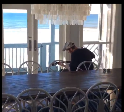 Brett Eldredge is at the beach. He posted a video on his Facebook page today.