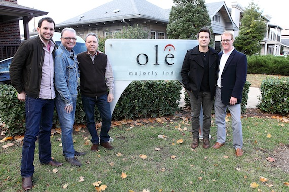Ben Strain, ole Creative Director; Gilles Godard, ole VP of Business Development; Jody Williams, BMI VP of Writer/Publisher Relations in Nashville; Josh Dorr, an ole songwriter and RCA artist; and John Ozier, ole GM of Creative in Nashville.