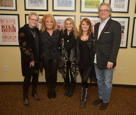 Pictured (L-R): The Country Music Hall of Fame and Museum's Carolyn Tate, Tanya Tucker, daughters Presley Tucker and Layla Laseter, and the Country Music Hall of Fame and Museum's Kyle Young.