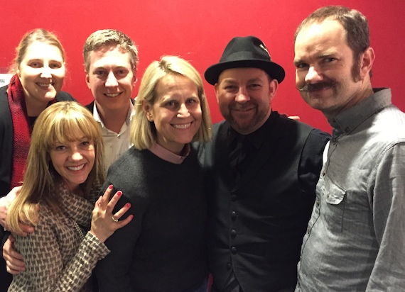 Pictured (L-R): Streamsound's Theresa Ford, Teddi Bonadies, Premiere Networks' Director/Country Programming Justin Cole, WMZQ/PD Meg Stevens, Kristian Bush and Brandon Bush.